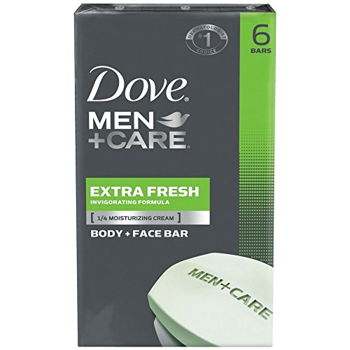 Dove Men+Care Body and Face Bar, Extra Fresh 4 Oz, 6 Bar (Pack of 2) by Dove