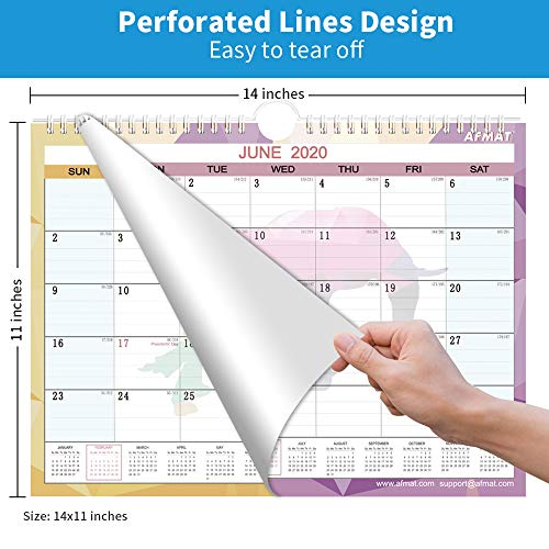 """Desk Calendar 2020 - Small Monthly Desk/Wall Calendar, 14"""" x 11"""", Planner for 2020 Whole Year,180g Thick Paper, Smooth Writing, Large Space for Writing Notes, Ruled Blocks, Corner Protectors, Animal Photo #7"""