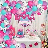 JOYMEMO Paw Patrol Balloon Garland para niñas, Estampado de Pata de...