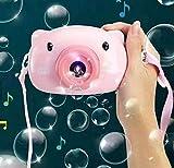 Jukmen Summer Automatic Funny Cartoon Pig Magic Bubble Soap Children Bubble Maker Camera Gun Toys Machine Bubble Gifts for Kids Girl