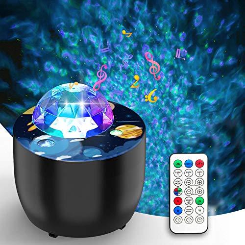 Sternenhimmel Projektor, Led Projektor mit 2 Lademodi (Batterie einlegen oder USB-Kabel verwenden), Nachtlicht Sternenhimmel mit mehreren Modi und Fernbedienung