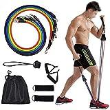 Juego de bandas de resistencia para ejercicio Ellepigy, equipo de gimnasio en casa, hombres para entrenamiento de resistencia