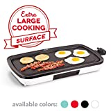 DASH DEG200GBWH01 Everyday Nonstick Electric Griddle for Pancakes, Burgers, Quesadillas, Eggs &...