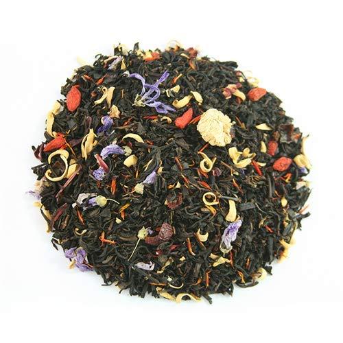 Copacabana Gourmet 50gr. Té negro, escaramujo, hibisco, bayas de Goji, jengibre, azahar, saflor,malva, manzanilla romana, aroma