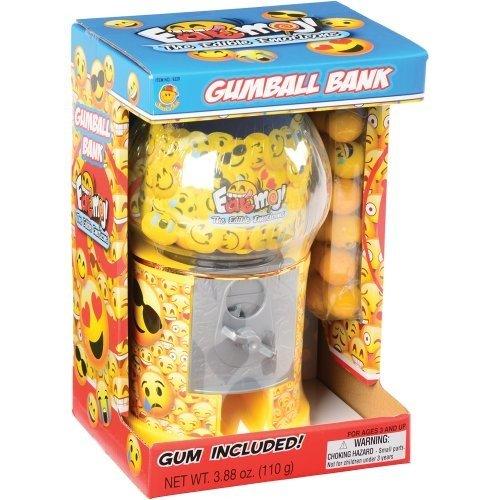 Sweet N Fun Eatmoji Emoji Gumball Savings Bank with Emoji Gumballs