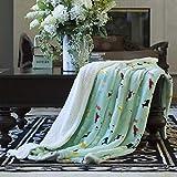 AVAFORT Velvet Plush Home Fleece Throw Blanket for Couch Sofa Bed, Warm Elegant Fuzzy Blanket for Kid Baby Adults or Pet, Lightweight Microfiber Blankets (Dog-Aqua Sky-Cotton, 50' X 70')