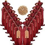 12/24 bolsas de vino resistentes para botellas, bolsas de regalo para vino y champán 35 x 15 cm, y...