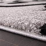 Paco Home Designer Teppich mit Konturenschnitt Modern Grau Schwarz, Grösse:80x150 cm - 2