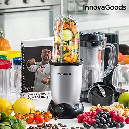 InnovaGoods IG114765 Licuadora batidora de vaso, 250 W, Gris