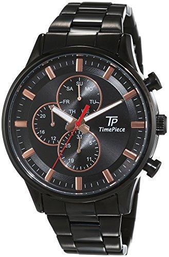 Time Piece Orologio da polso da uomo al quarzo, analogico, in acciaio inox, Fashion TPGA-90970–21M