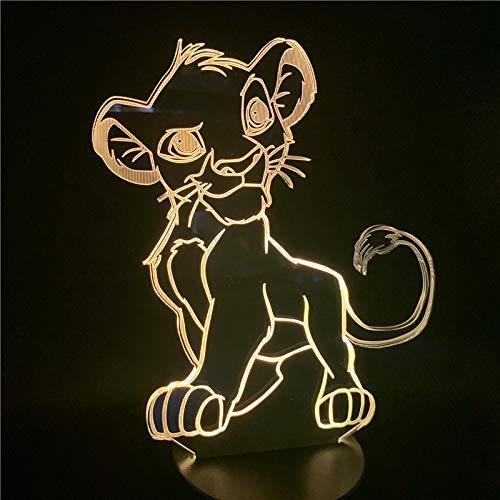 Luz de Cambio de Color Novedad Dormitorio lámpara de Noche hogar luz de Noche de Dibujos Animados