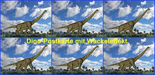 Lustige Lentikular-Postkarte mit Wackelbild nr.10221 / Wechselbild Dinosaurier: