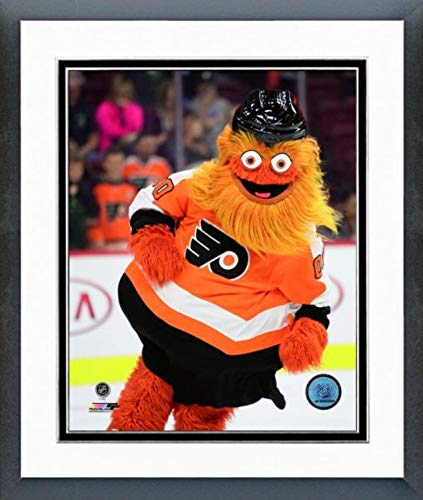 "NHL Gritty Philadelphia Flyers Mascot Action Photo (Size: 12.5"" x 15.5"") Framed"