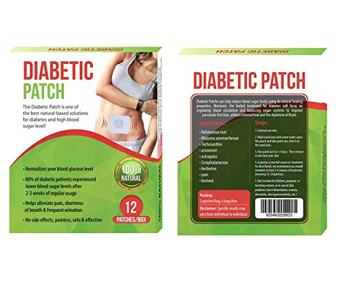 Pure Herbal Diabetic Patches - High Blood Sugar Level Control Natural herb Patches