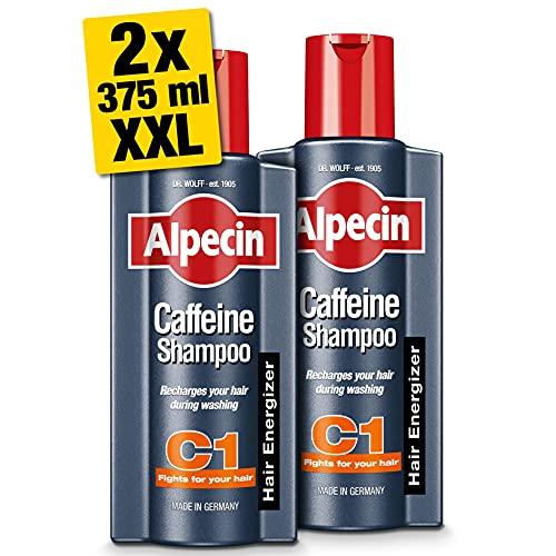 Alpecin Caffeine Shampoo C1 2x 375ml   Prevents and Reduces Hair Loss   Natural Hair Growth Shampoo...