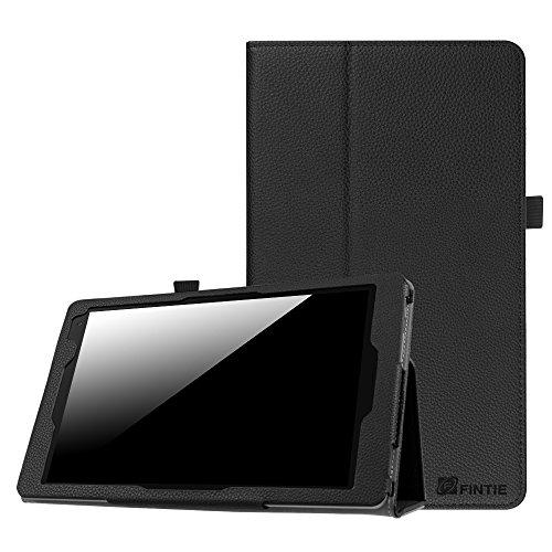 Fintie Hülle Case für Medion Lifetab X10605 X10607 P10606 - Premium Folio Kunstleder Schutzhülle Tasche mit Ständerfunktion für Medion Lifetab X10605 X10607 P10606 10,1 Zoll, Schwarz