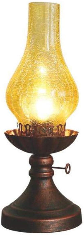 Led Lightvintage Kerosin Tischlampe Schlafzimmer Nachttischlampe 14Cm  38Cm E27