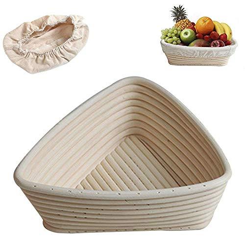 HEDDK Artículos De Cocina Cesta para Masa Cesta De Pruebas Panera para Panadería Profesional Y Casera para Hornear Regalos Dos Tamaños,20 * 20 * 20 * 7cm(Lining)