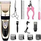 COROID Professional Automatic Rechargeable Pet Hair Trimmer for Dogs (Multicolour-1)