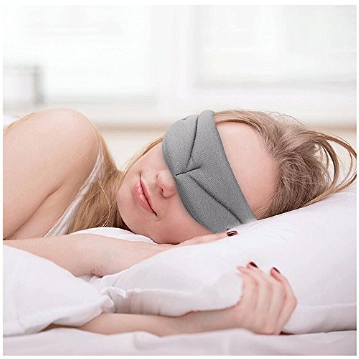 胸太鼓腹突然NOTE 睡眠マスク、超柔らかい記憶泡の睡眠カバー、呼吸が簡単なアイシェード