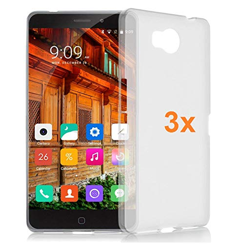 REY 3X Funda Carcasa Gel Transparente para ELEPHONE P9000 Lite, Ultra Fina 0,33mm, Silicona TPU de Alta Resistencia y Flexibilidad