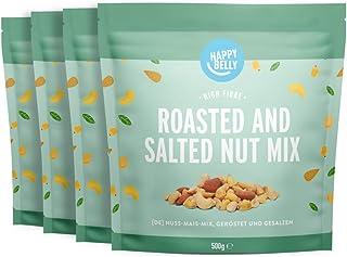 Amazon-merk: Happy Belly noten en maïs mix, geroosterd en gezouten, 4 x 500 g