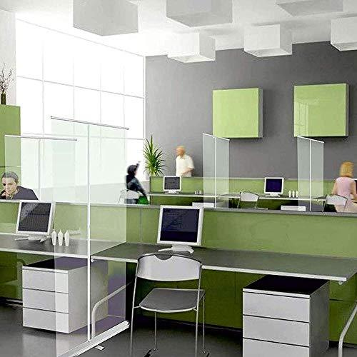 Byakns Protección transparente enrolle la pancarta transparente, la pantalla del protector de estornudos, la pantalla de partición transparente de pie (color: espesado 31.49x70.86in)