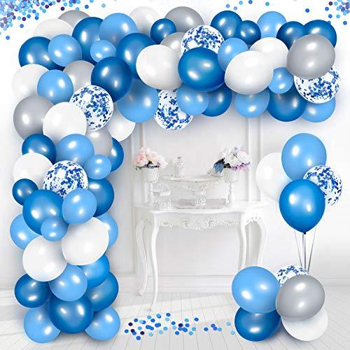 Arco Palloncini Blu, Decorazione Palloncino Compleanno Coriandoli in Lattice per Decorazioni di Doccia Bambino 8° 16° 18° 21° 30° 60° Compleanno di Decorazioni per Feste per Donne Ragazze Ragazzi
