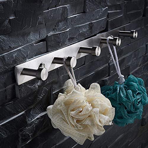 304 en acier inoxydable patère brossée vêtements vestimentaires cuisine salle de bain toilettes serviette crochet poinçon mural gratuit 35 7 cm.