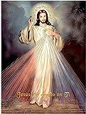 Miséricorde divine Jésus-Christ (16'x20') - religieux affiche impression d'Art mural