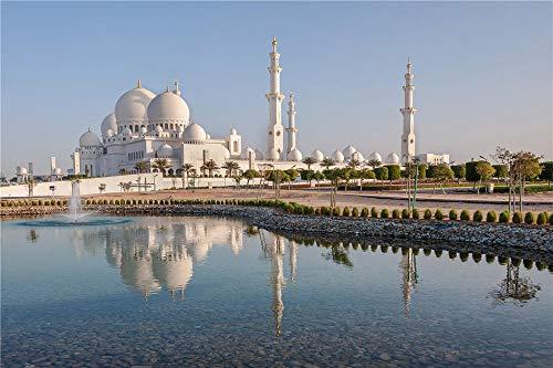 FAWFAW Puzles Adulto 1500 Piezas, Palacio Taj Mahal, Edificio Mezquita
