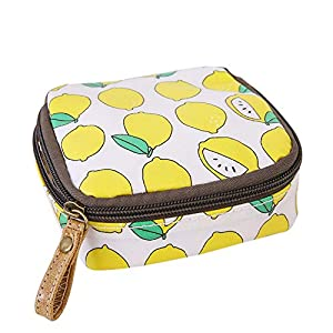 Samzary Cute Cartoon Coin Purse With Zipper Sanitary Napkin Cosmetic Storage Bag