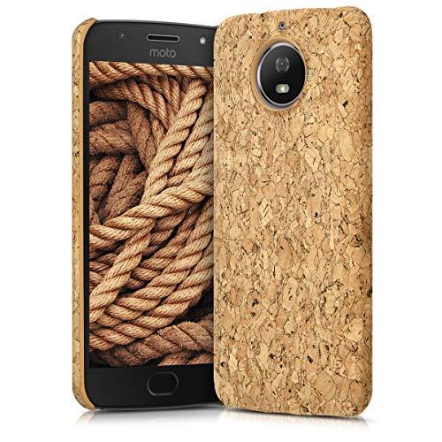 kwmobile Schutzhülle kompatibel mit Motorola Moto G5S - Hülle Kork - Handyhülle - Handy Hülle Cover Hellbraun