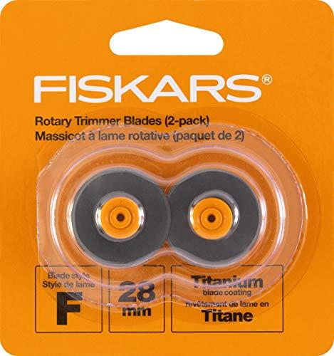 Fiskars 157390-1001 Titanium Rotary Replacement Blades, 28mm, 2 Pack