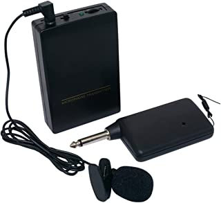 Wireless Microphone System Wireless Microphone Set with Headset &Lapel Mics, Transmitter &Receiver Ideal for Teaching, Pre...