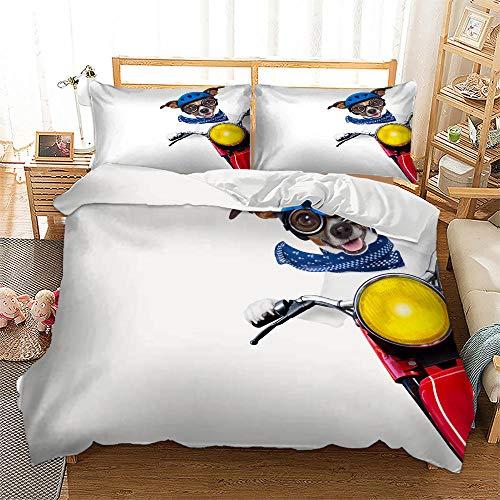 Bocotous Duvet Cover with Double,3D Horse Cats Kinder Bettwäsche-Sets, Single Single Double Super King Bett Bettwäsche Bettwäsche-Sets, Jungen Mädchen Bettbezug Set F 135 * 200cm