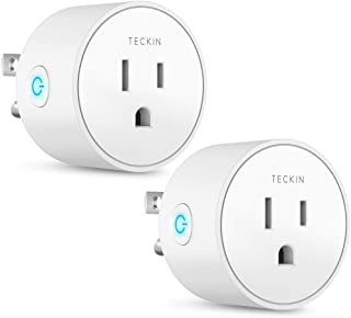 Smart Plug Works with Alexa Google Assistant IFTTT for Voice Control, Teckin Mini Smart Outlet Home Automation Modules, No Hub Required, FCC ETL Certified,Only Supports 2.4GHz Network