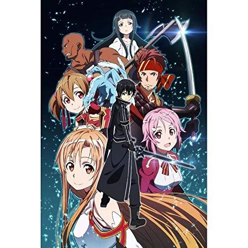 YGVXX Sword Art Online Rompecabezas de Madera 1000 Piezas, Rompecabezas periféricos de Anime, para niños Gritando Pollo Rompecabezas