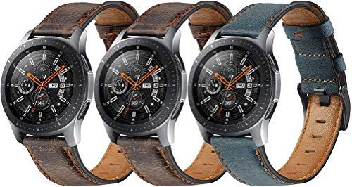 Reloj de Correa Cuero 22mm, Hombre Repuesto La Correa (22mm, 3PCS H)