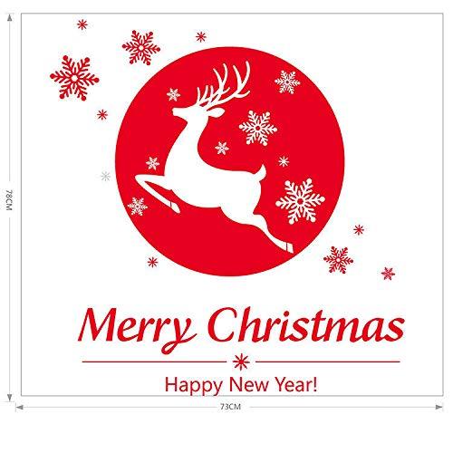 Etiqueta Engomada De La Pared Del Cervatillo Del Copo De Nieve De Navidad Tienda En Casa JardíN De Infantes Paquete De Navidad 50X70Cm