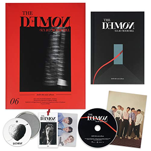 DAY6 6th Mini Album - The Book Of Us : The Demon [ MIDNIGHT ver. ] CD + Photobook + Photocard + Lyric Card + Bookmark + LENTICULAR PHOTOCARD + OFFICIAL POSTER + FREE GIFT / K-POP Sealed