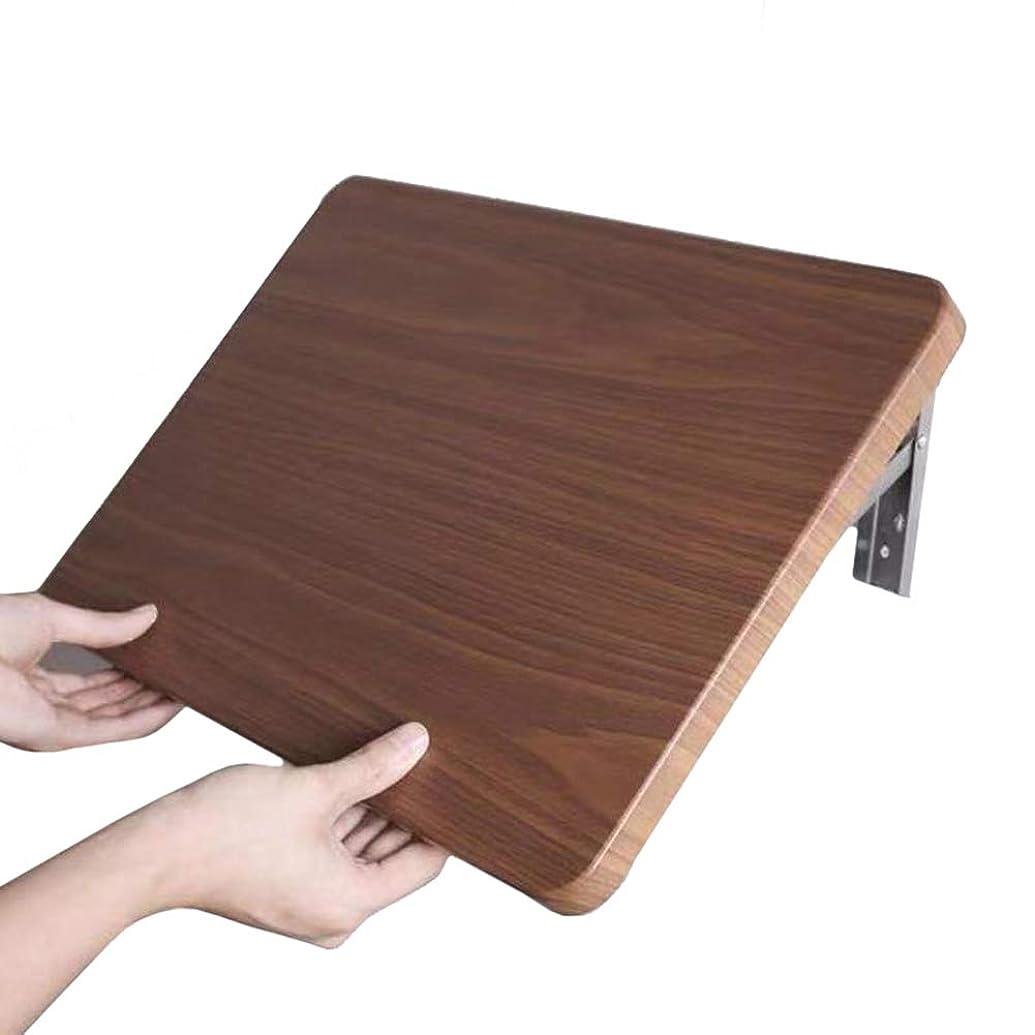 注入めんどり凍結ERRU- ブラウン壁掛け式ドロップリーフテーブル、折りたたみキッチン&ダイニングテーブルコンピュータデスク、バスルーム用1ワードパーティション (サイズ さいず : 80x41cm)