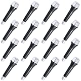 Nexxxi 16 Pack Plastic Microphones Bulk, Toy Microphone Set Birthday Party Favors - Stage Prop for Girls and Boys, 5.5 Inches Tall