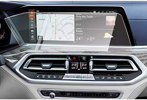 OIOBOMBG Für BMW X7 G07 2019, 12,3-Zoll-Autonavigation Displayschutzfolie Infotainment Touchscreen Hartglas-Displayschutzfolie Navigation Schutzfolie