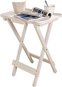 CUI XIA UK End Table Tavolo Quadrato in Legno, Tavolo da Pranzo Pieghevole - Casa Camera da Letto Soggiorno Balcone Piccolo Tavolo da tè - Comodo Tavolo di Studio