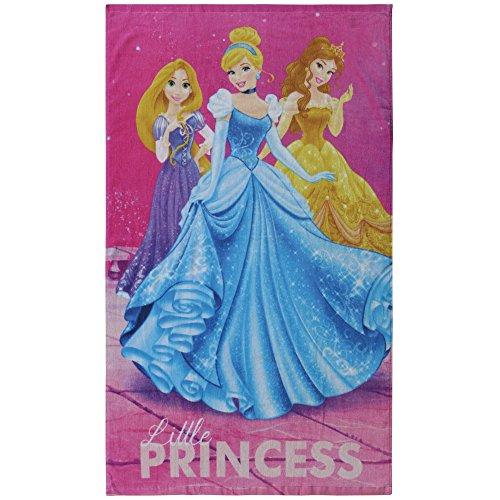 CTI 044207–Toalla Rosa de Playa de Princesas Dream Big de algodón con diseño de Princesas de 320g/m² y 120x 70cm de tamaño