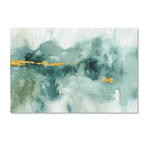 My Greenhouse Abstract I Crop Blue by Lisa Audit, 16x24-Inch Canvas Wall Art