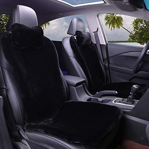 Soft High Pile Faux Schapenvacht Auto Stoelhoezen 9 Stks Zacht en Comfortabel voor Auto Auto's voor 2 hoofdsteun, 4 rugleuning, 2 vierkante pad en 1 achterbank kussen