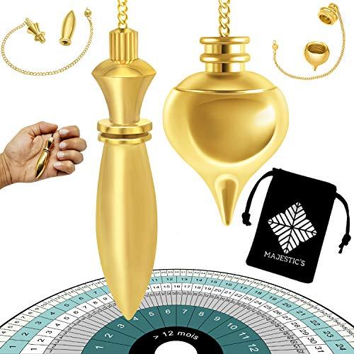 Péndulo Divinatorio Egipcio Thot & Péndulo de Radiestesia Abbe MERMET Gota de agua...