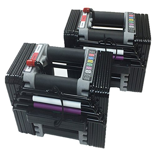 PowerBlock Elite Set Dumbell, 50-Pound (pair), Black - EL-50Plates1-4